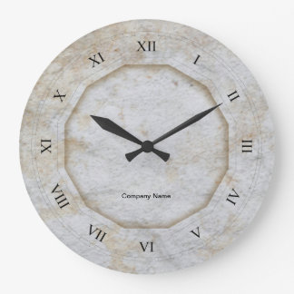 Stone Texture with Roman Numerals Large Clock