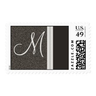 Stone Textured Slate Designer Monogram Postage