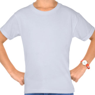 Stone the Lion Dog Girls' Basic T-Shirt, White Tshirt