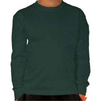 Stone the Lion Dog Kids' Long Sleeve Shirt, Green Tshirt