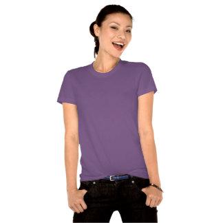 Stone the Lion Dog Ladies Organic T-Shirt, Violet Tee Shirt