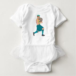 Stone Throw Highland Games Athlete Drawing Baby Bodysuit
