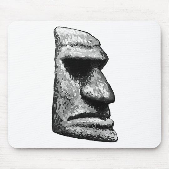 Stone Tiki Man Mouse Pad