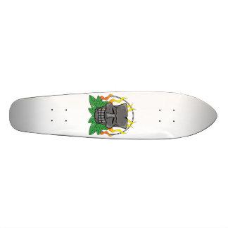 Stone Tiki Mask Skateboard Desk