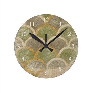 Stone Tile Design by Chariklia Zarris Round Clock
