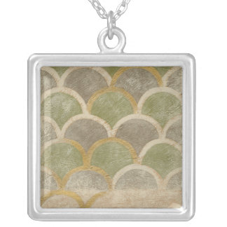 Stone Tile Design by Chariklia Zarris Silver Plated Necklace