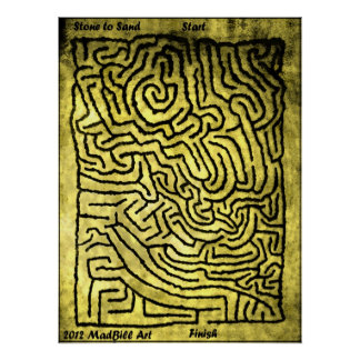 Stone to Sand Maze Poster