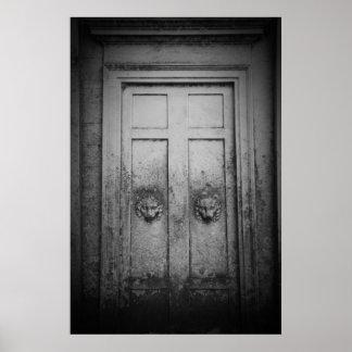 Stone tomb doors poster