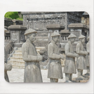 Stone Tomb Statues Mouse Pad