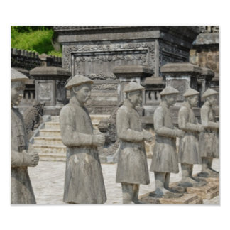 Stone Tomb Statues Poster