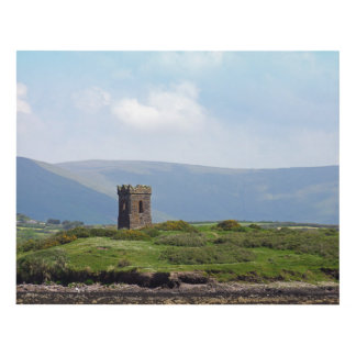 Stone Tower in Ireland Panel Wall Art