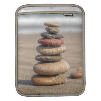 Stone Tower On Beach iPad Sleeves
