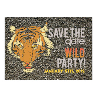 "Stone trail Wild Animal Themed Party Invite 5"" X 7"" Invitation Card"