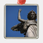 Stone Tranquility ~ Angel Pointing to Heaven Christmas Tree Ornament