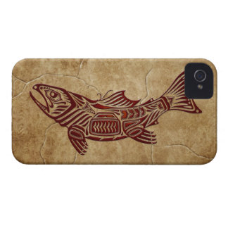 Stone Tribal Fish iPhone 4 Case