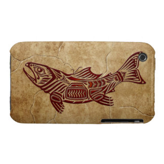 Stone Tribal Fish iPhone 3 Case-Mate Cases