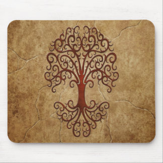 Stone Tribal Tree Mouse Pad