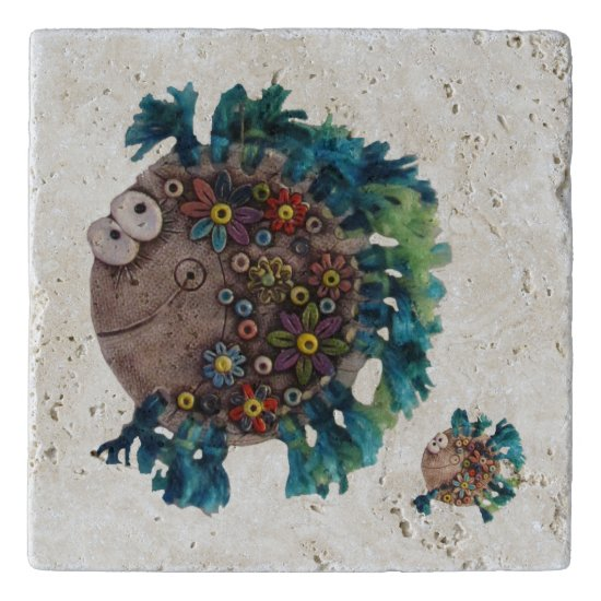 Stone Trivet - Flowerchild Fish