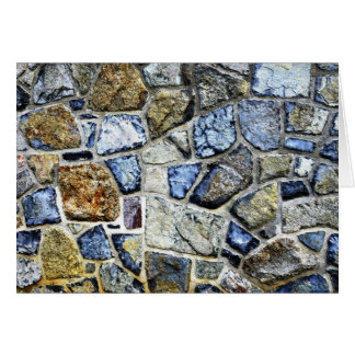 stone wall abstract card