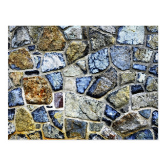 stone wall abstract postcard