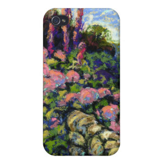 Stone Wall and Flowers iPhone 4 Cases