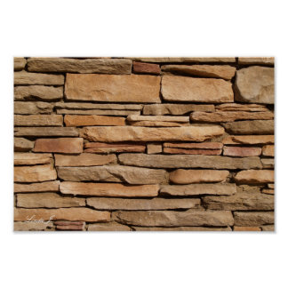 Stone Wall Background Canvas or Poster