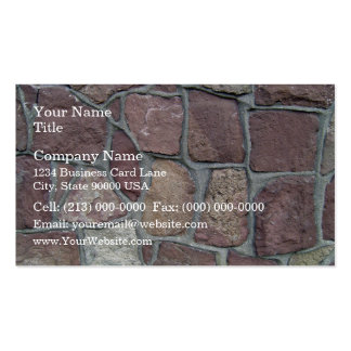 Stone Wall Background Of Natural Stones Business Card Templates