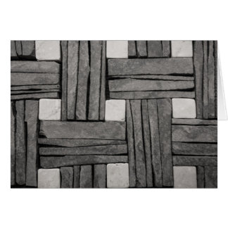 Stone Wall Basket Weave Card