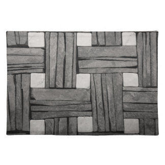Stone Wall Basket Weave Cloth Placemat