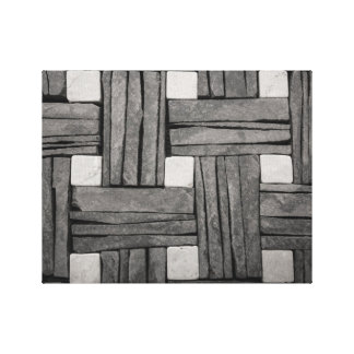 Stone Wall Basket Weave Gallery Wrap Canvas