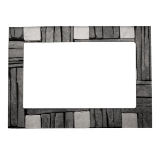 Stone Wall Basket Weave Magnetic Picture Frame
