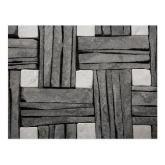 Stone Wall Basket Weave Postcard