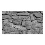 Stone Wall. Black and white. Business Card Templates