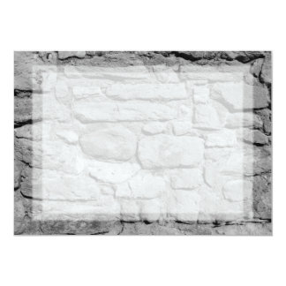 Stone Wall. Black and white. Card