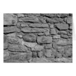 Stone Wall. Black and white. Cards