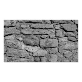 Stone Wall. Black and white. Double-Sided Standard Business Cards (Pack Of 100)