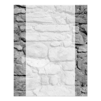 Stone Wall. Black and white. Flyer