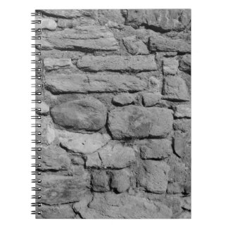 Stone Wall. Black and white. Notebooks