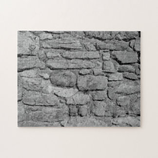 Stone Wall. Black and white. Puzzles