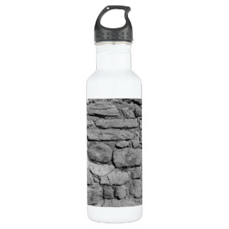 Stone Wall. Black and white. Stainless Steel Water Bottle