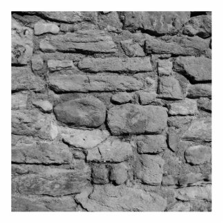 Stone Wall. Black and white. Statuette