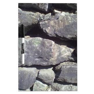 Stone Wall Dry-Erase Board