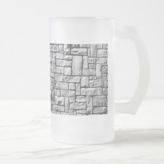 Stone Wall Frosted Glass Beer Mug