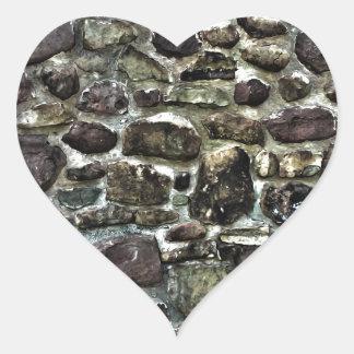 Stone Wall Heart Sticker