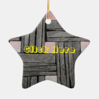 Stone Wall Iamges Ceramic Ornament