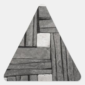 Stone Wall Iamges Triangle Sticker