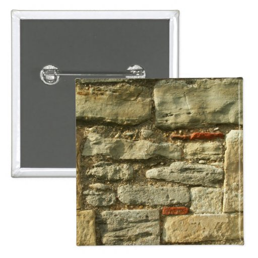 Stone Wall Image. 2 Inch Square Button
