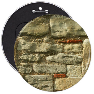 Stone Wall Image. 6 Inch Round Button