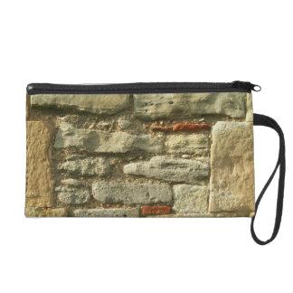 Stone Wall Image. Wristlet Clutch