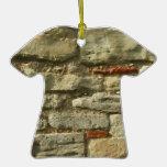 Stone Wall Image. Christmas Ornaments